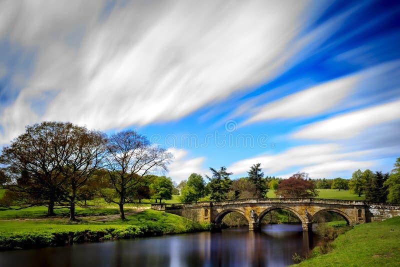 Мост над рекой Derwent стоковое фото
