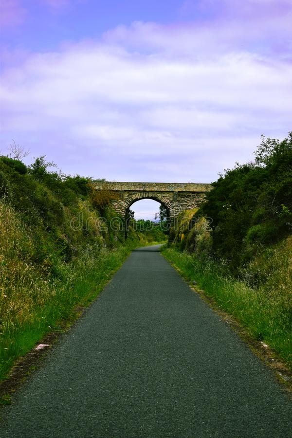 Мост на дороге природы стоковые изображения