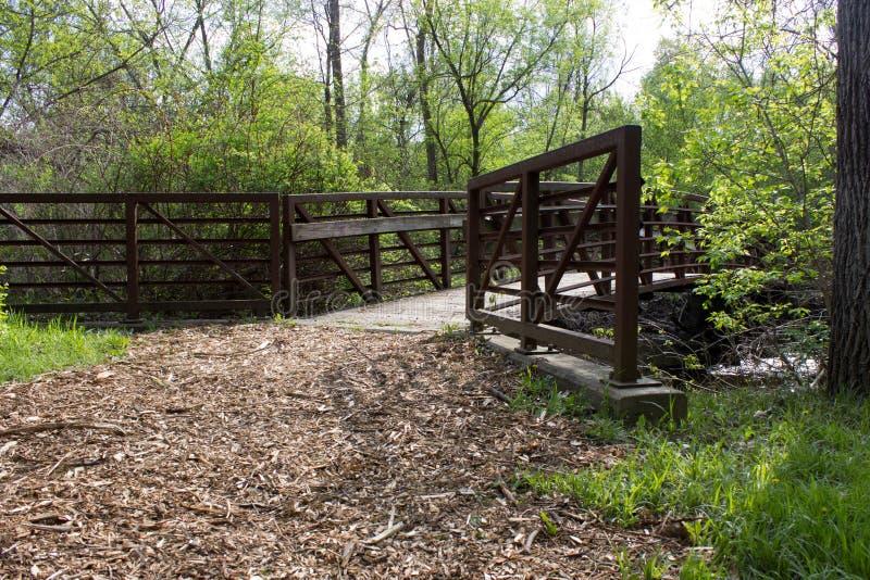 Мост на идя пути стоковое изображение rf
