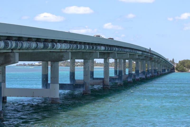 Мост над океаном ключевая дорога к западу стоковое изображение rf