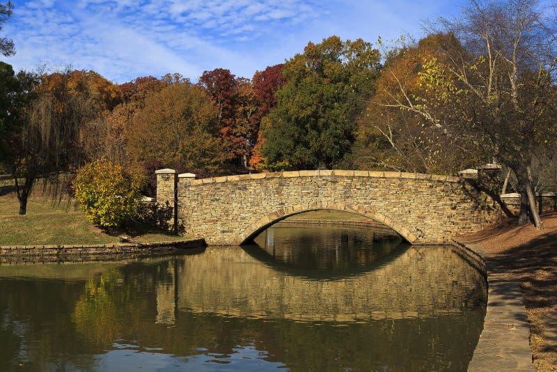 Мост на парке стоковое фото rf