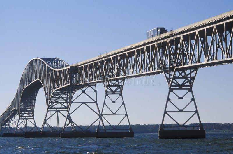 Мост над чесапикским заливом, Lucius j Kellam, младший Мост-тоннель, Вирджиния стоковая фотография rf