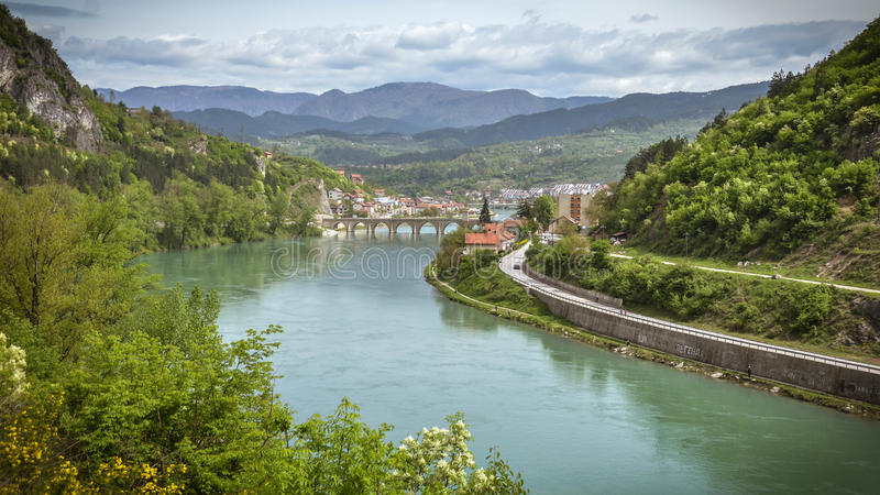 Мост над Drina стоковое фото rf