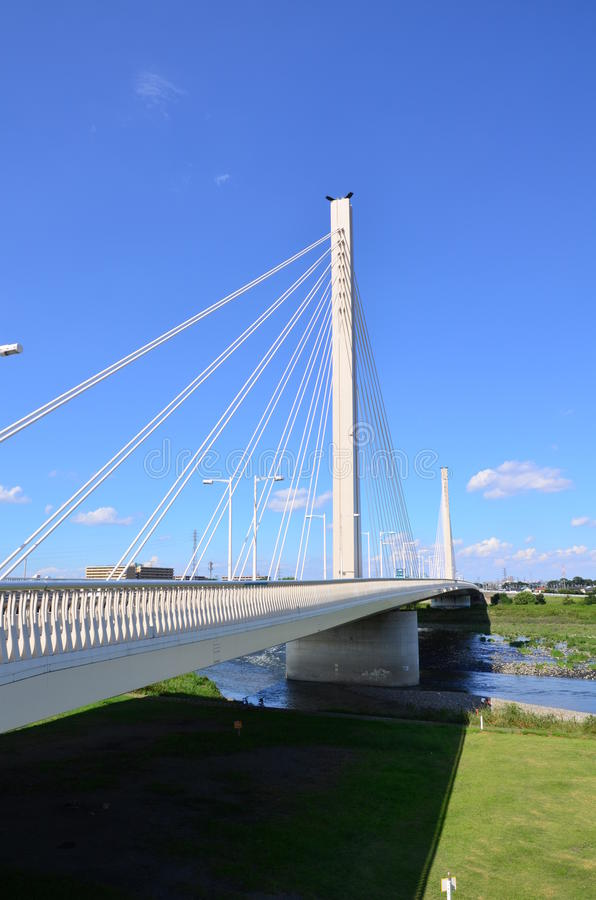 Мост на Tama стоковые изображения