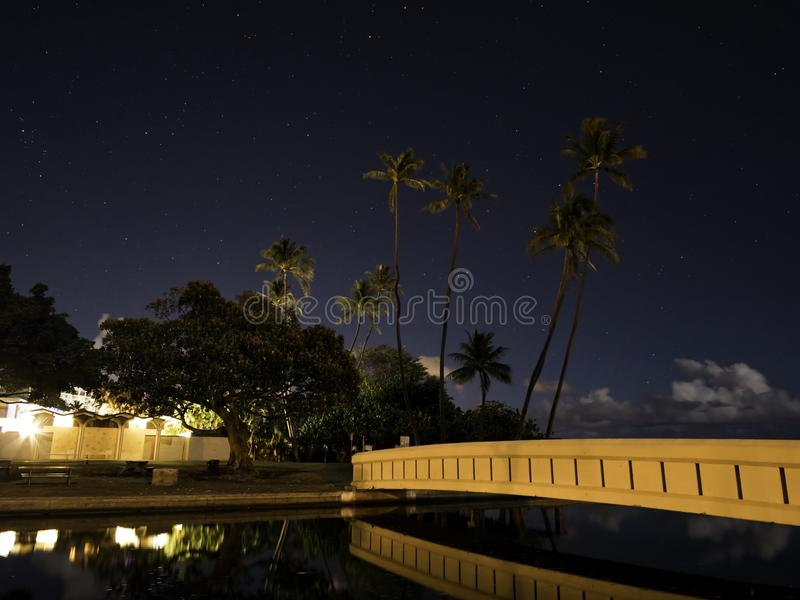 Мост ночи стоковое изображение rf