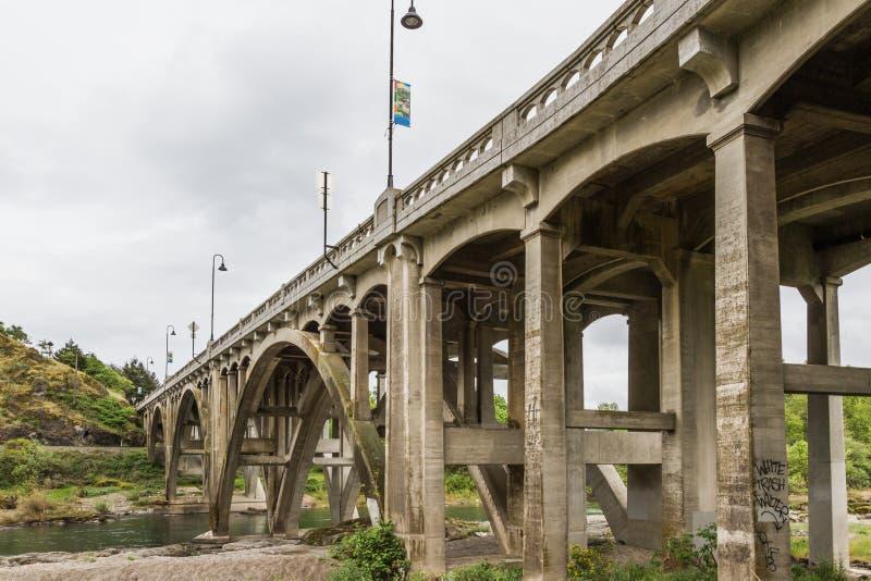 Мост Орегона стоковые фотографии rf