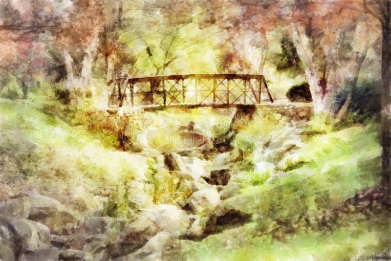 мост осени иллюстрация штока
