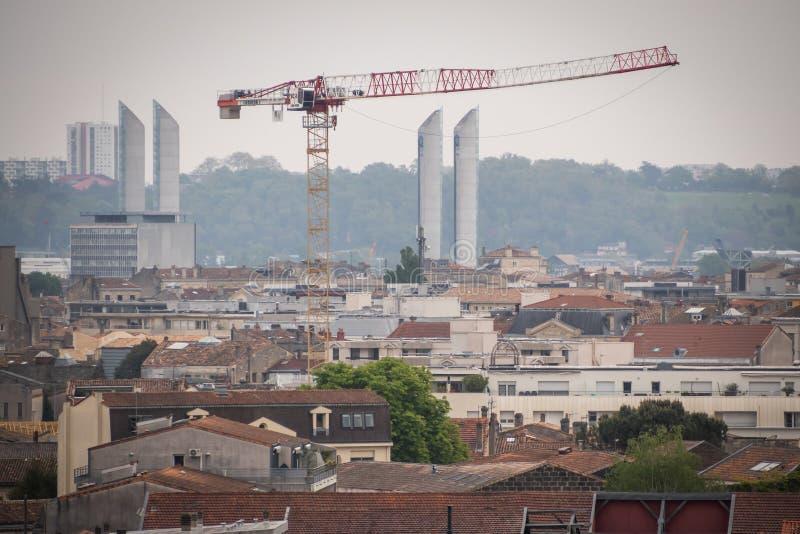 Мост подъема Chaban-Delmas в Бордо Франции стоковое изображение