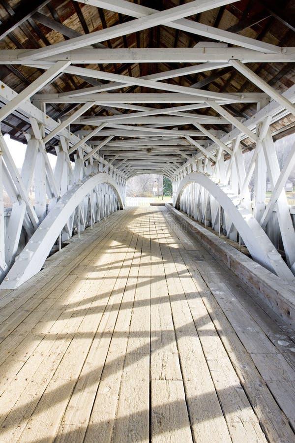 мост покрыл groveton стоковая фотография rf