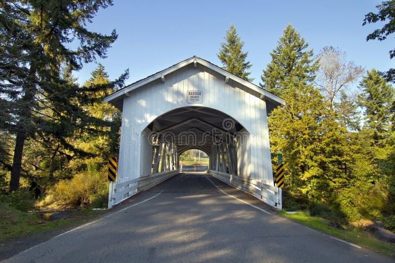 мост покрыл hannah Орегон стоковые фото