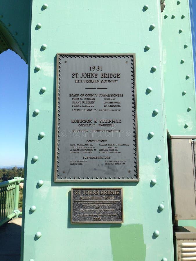 Мост Портленд Орегон St. Johns стоковое фото