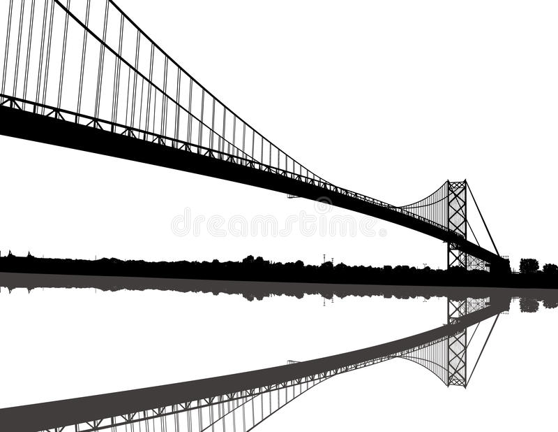 мост посола иллюстрация вектора
