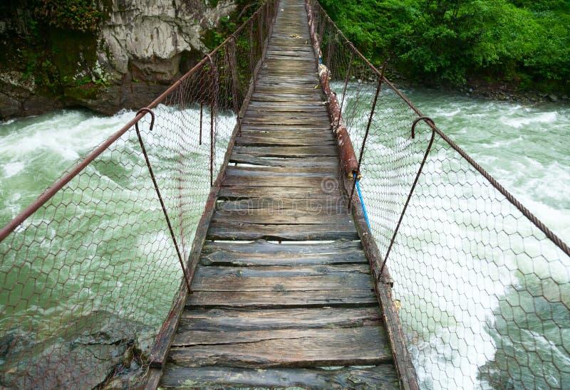 Мост подвеса идя стоковые изображения