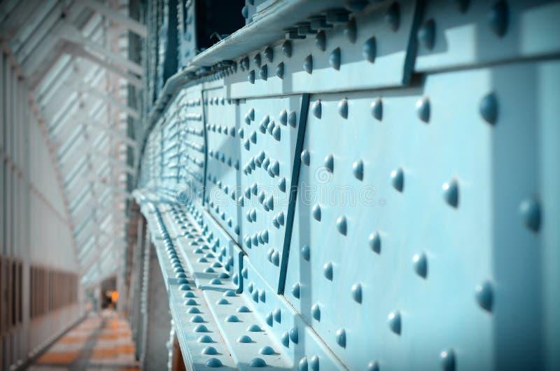 Мост поляков металла пешеходный стоковая фотография