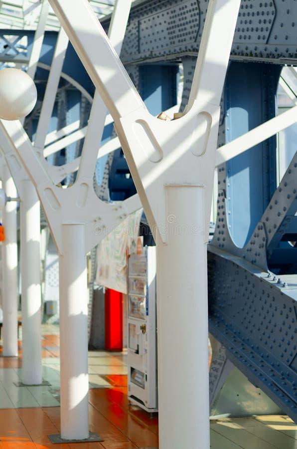 Мост поляков металла пешеходный стоковое фото rf