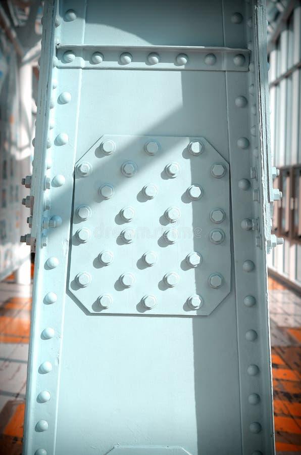 Мост поляков металла пешеходный стоковая фотография rf