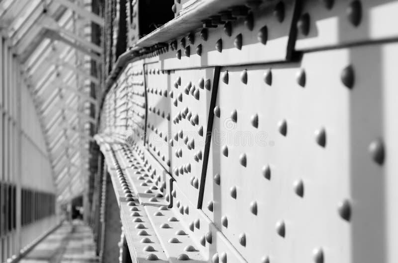 Мост поляков металла пешеходный стоковое изображение