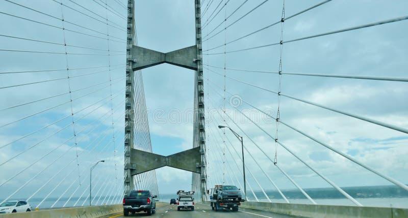 Мост пункта дам jacksonville США положения Флориды стоковые фото