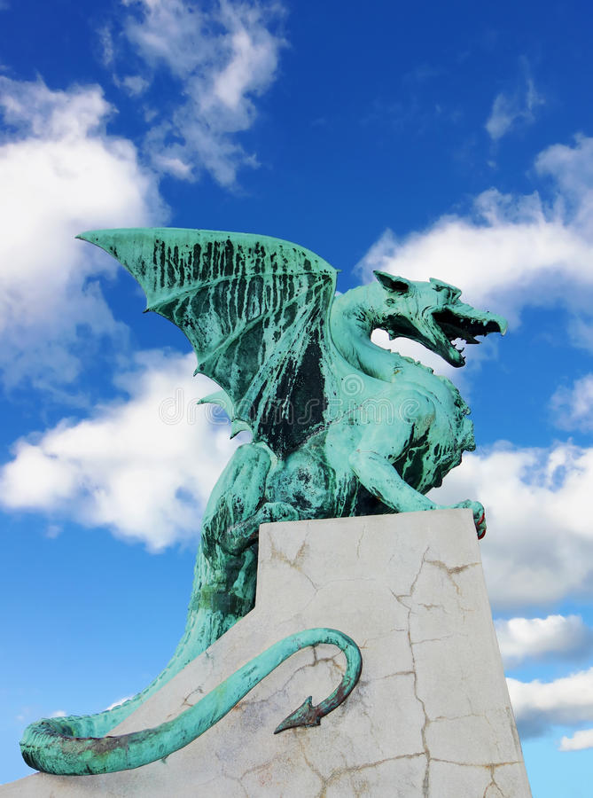 Мост дракона (Zmajski больше всего) стоковое изображение