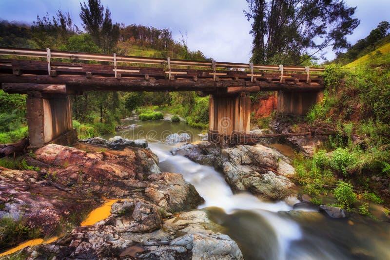 Мост реки BTops Cobark стоковое фото rf