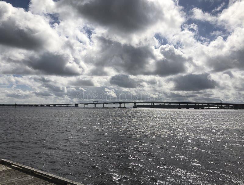 Мост реки Neuse стоковое изображение rf