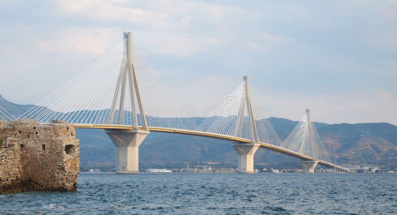 Мост Рио-Antirion стоковые изображения rf