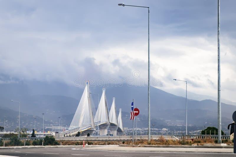 Мост Рио Antirrio в Греции стоковая фотография