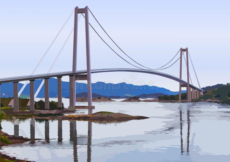 мост самомоднейший иллюстрация штока