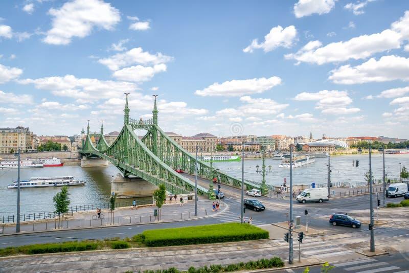 Мост свободы и Дунай, Будапешт, Венгрия стоковая фотография rf