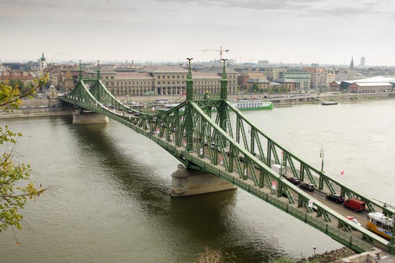 Мост свободы через Дунай стоковые фотографии rf