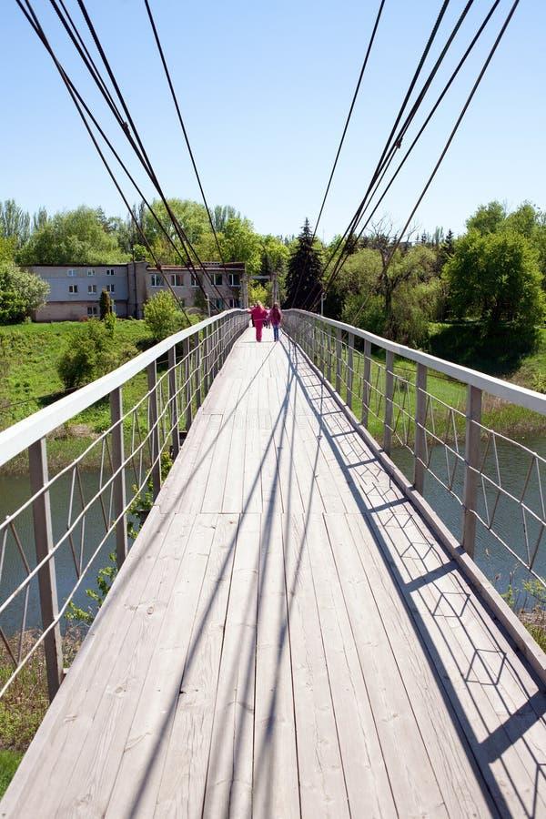 Мост смертной казни через повешение в городе Krivoy Rog стоковые фотографии rf