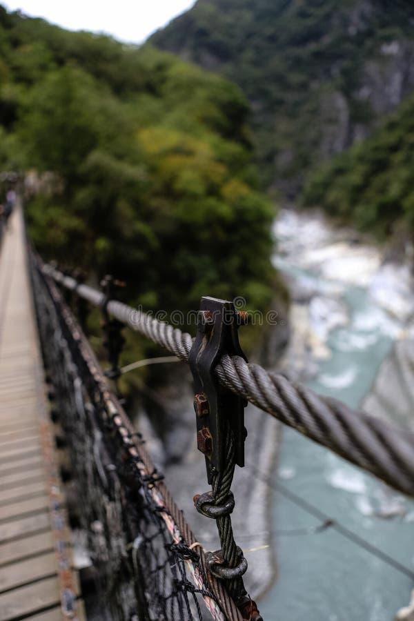 Мост смертной казни через повешение, Taroko национальный Forest Park, Тайвань стоковое изображение