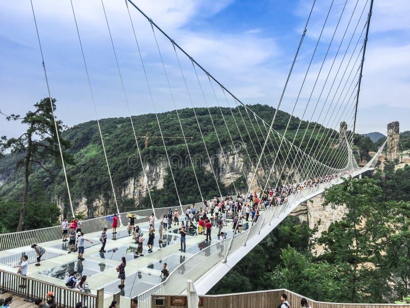Мост стекла Zhangjiajie