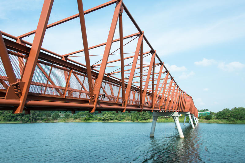 Мост утюга стоковое фото rf