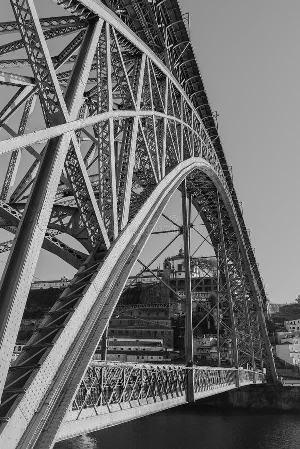 Мост утюга luiz Dom Oporto стоковые изображения rf