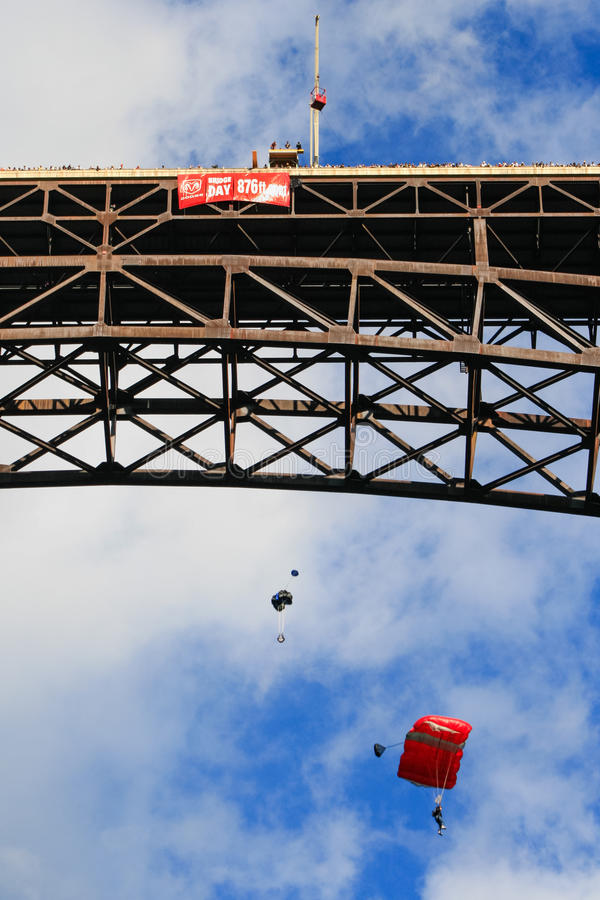 Мост ущелья нового реки шлямбуров дня моста стоковое изображение
