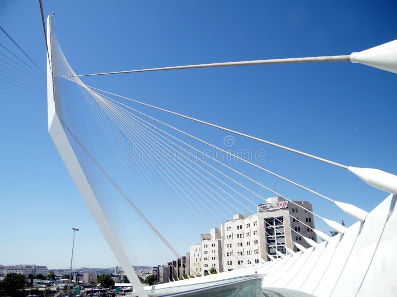 Мост 2010 хорд Иерусалима новый стоковые фотографии rf
