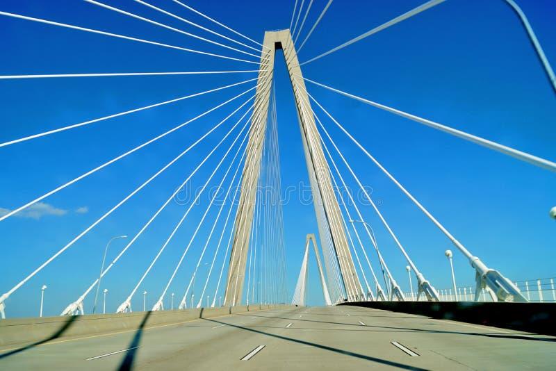 Мост Чарлстона Ravenel стоковая фотография