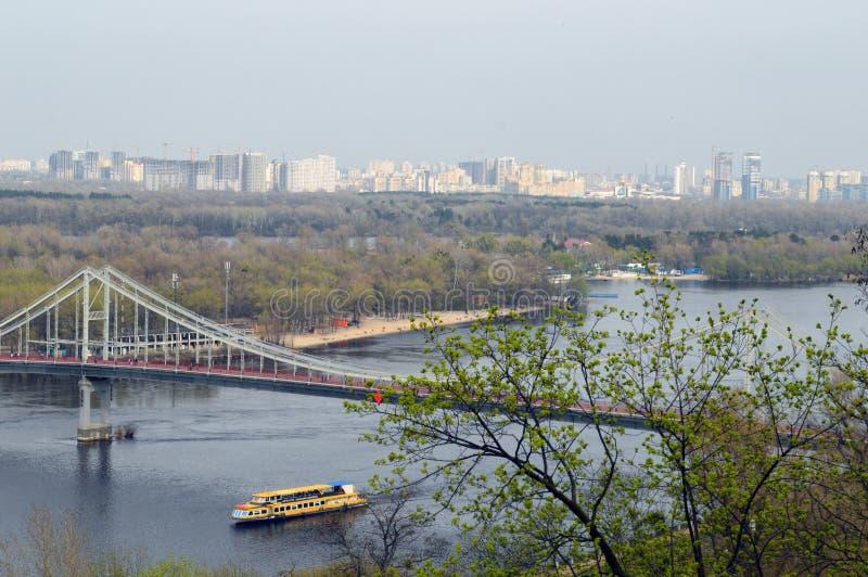 мост через реку Dnieper стоковое изображение