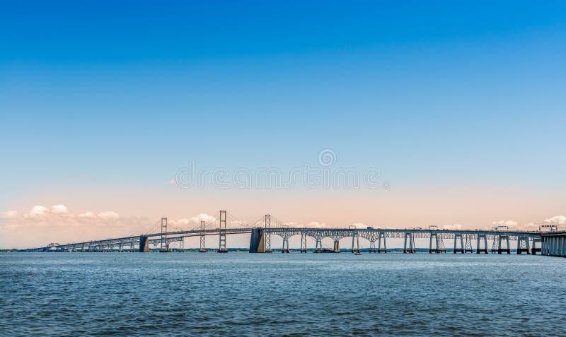 Мост чесапикского залива в Marland стоковые изображения rf