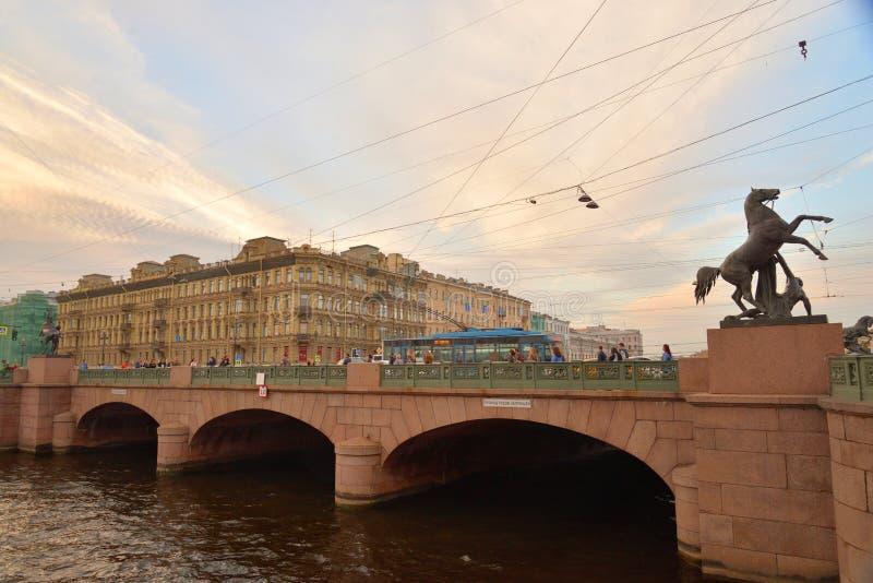 Мост Anichkov в Санкт-Петербурге стоковая фотография