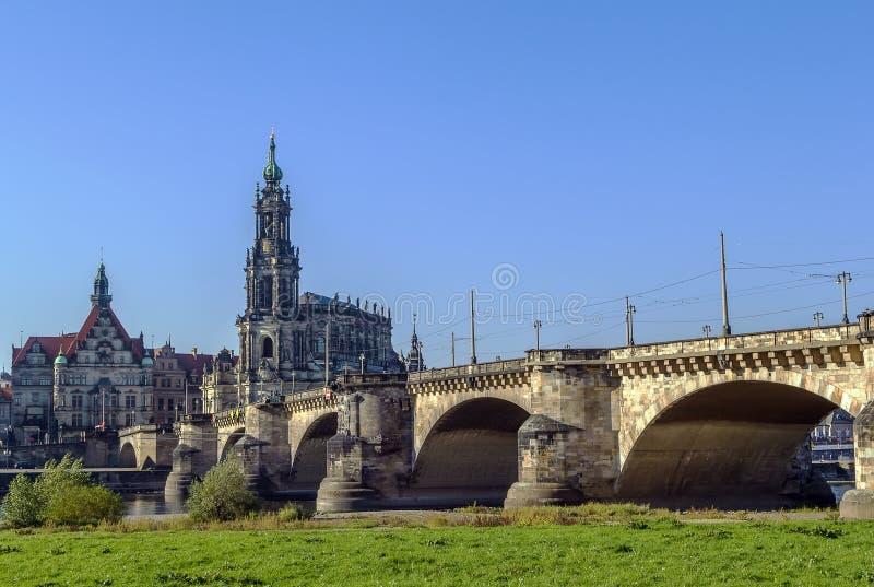 Мост Augustus, Дрезден, Германия стоковые фото