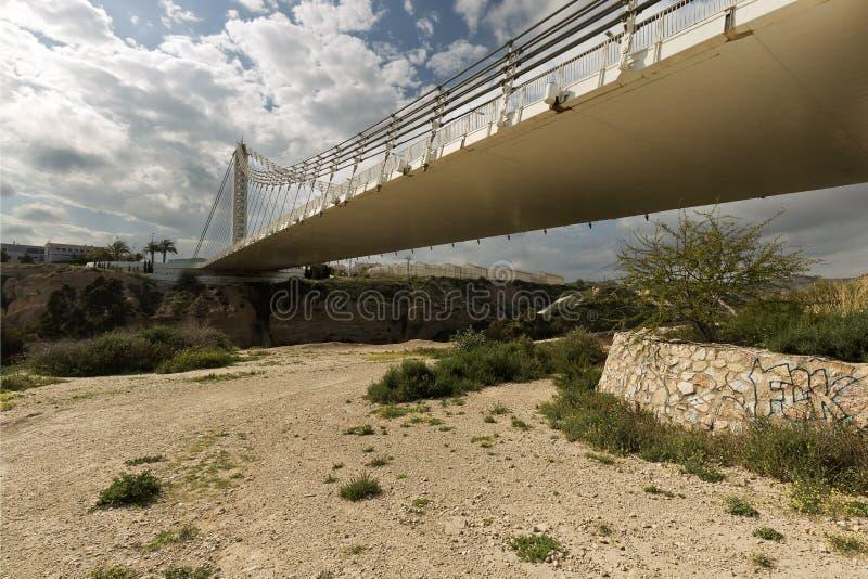 Мост Bimillennial в Elche, Испании стоковое фото