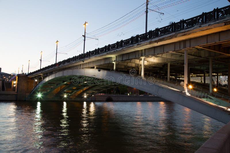Мост Bolshoy Kamenny, Москва стоковое изображение