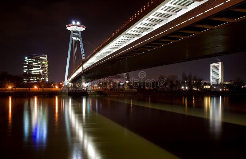 мост bratislava стоковая фотография