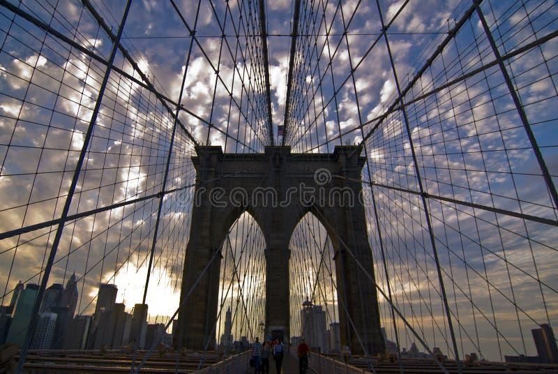 мост brooklyn manhattan стоковая фотография rf