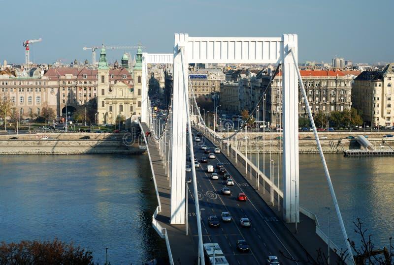 мост budapest elizabeth стоковое фото rf