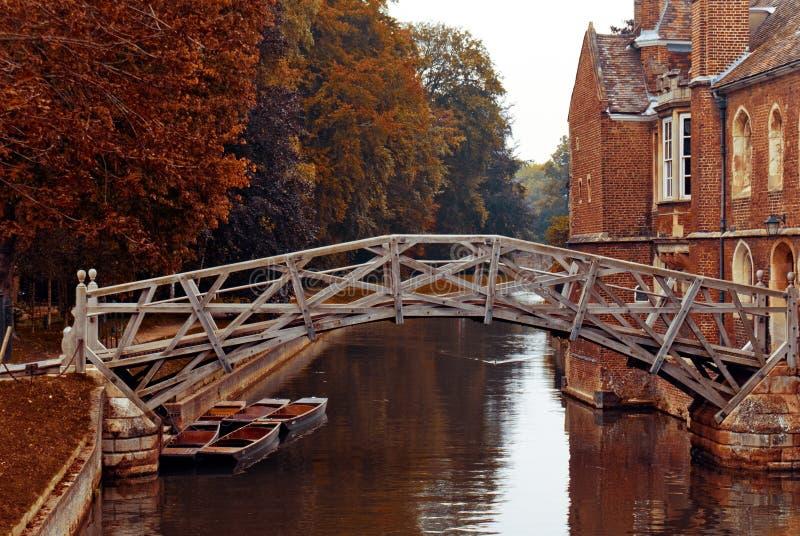 мост cambridge математически стоковое изображение