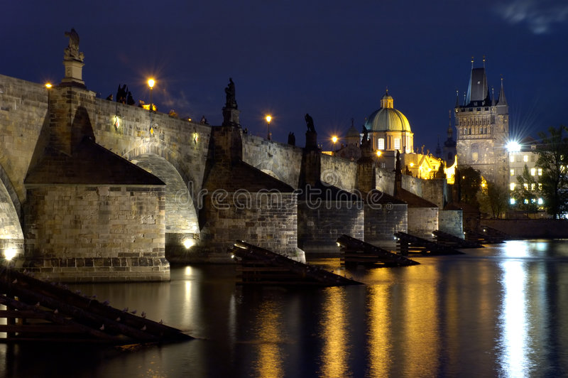 мост charles стоковые фото
