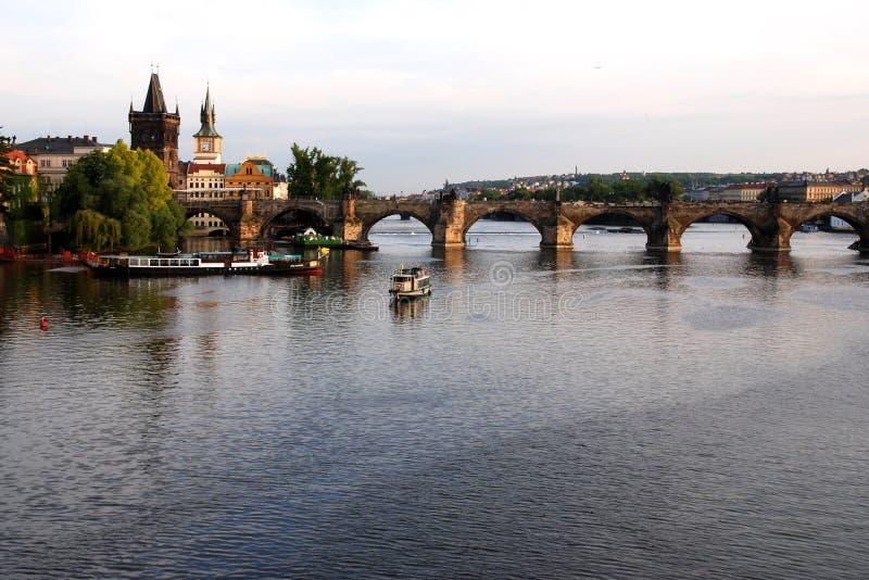 мост charles стоковая фотография rf